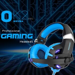 ONIKUMA K2 Over Ear Bass Stereo Surround Gaming Headphone with Microphone - RHIZMALL.PK Online Shopping Store.