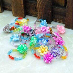 Pack of 6 - Multicolour Cute and Funky Melissa Rings - RHIZMALL.PK Online Shopping Store.