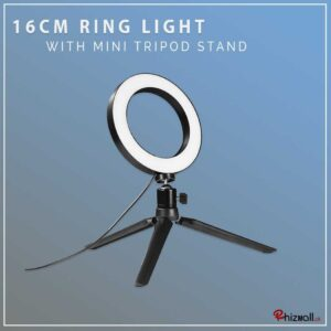 16cm Ring light with Mini Tripod Stand
