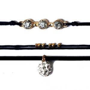 Triple Layers Beads Zircon Choker - RHIZMALL.PK Online Shopping Store.