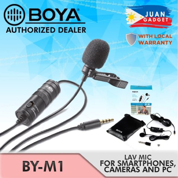 BOYA BY-M1 Microphone-For Audio Series - RHIZMALL.PK Online Shopping Store.