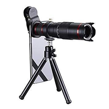 Corneliaa 22X Zoom Mobile Phone Telescope Lens Optical Aluminum Telephoto Camera Lens with Mini Tripod Universal for Smartphones - RHIZMALL.PK Online Shopping Store.