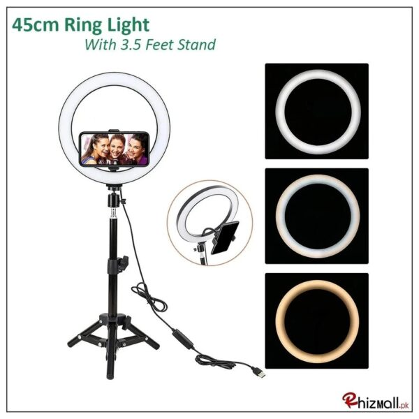 New Selfie Ring Light with & without Tripod Stand for Live Stream Lighting Ringlights
