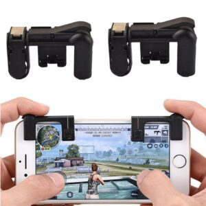 K01 Black Mobile Gaming Trigger L1 R1 Button PUBG - RHIZMALL.PK Online Shopping Store.