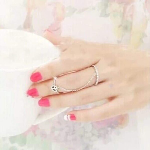 Lotus Chained Ring - RHIZMALL.PK Online Shopping Store.