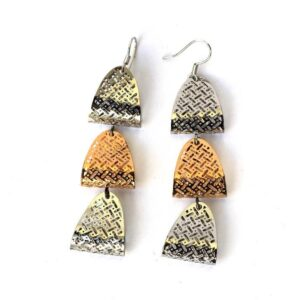 Golden and Silver Earring