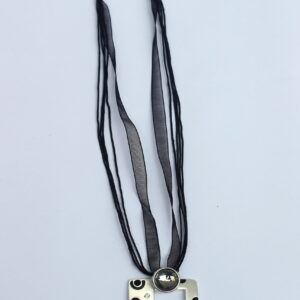 Amber Square Silver Necklace - RHIZMALL.PK Online Shopping Store.