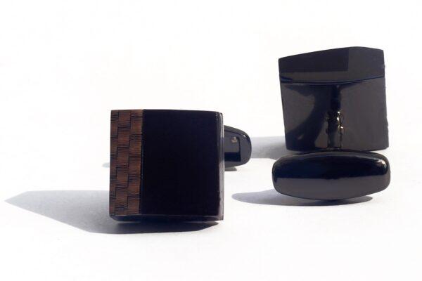 Brushed Wooden Tetris Luxury Cufflink - RHIZMALL.PK Online Shopping Store.