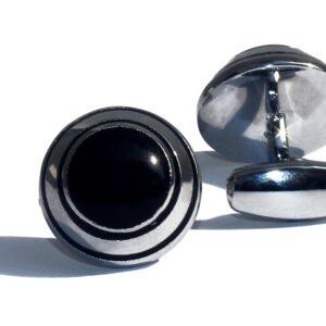 Hobart Round Eye Stainless Steel Cufflink - RHIZMALL.PK Online Shopping Store.