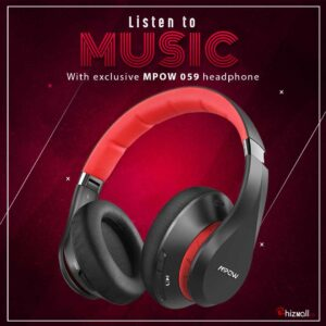 Mpow 059 Bluetooth Headphones, Over-Ear Wireless Headphone, Soft Memory-Protein Earmuffs Wireless Headset