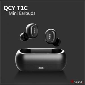 Original QCY Mini Invisible Wireless, Noise canceling Earbud with Mic