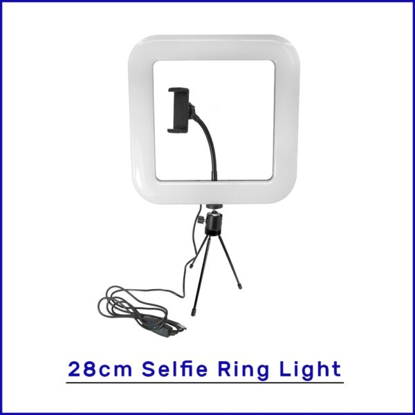 New Selfie Ring Light with Tripod Stand & Cell Phone Holder for Live Stream Circle Lighting Ringlights - RHIZMALL.PK Online Shopping Store.