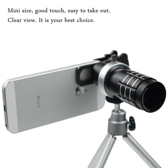 Mobile Telephoto Lens 12X with Clip and Stand - RHIZMALL.PK Online Shopping Store.