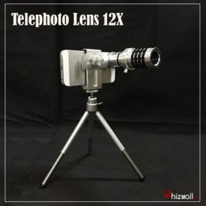 Mobile Telephoto Lens 12X with Clip and Stand