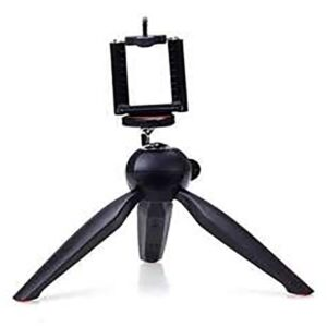 Mini Tripod Stand for Mobiles & DSLR Camera With Phone Holder Clip - RHIZMALL.PK Online Shopping Store.