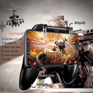 PUBG mobile W11+ Game Controller Free Fire Joystick Gamepad Metal L1 R1 Button - RHIZMALL.PK Online Shopping Store.