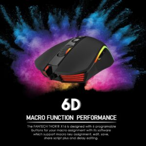 Buy FANTECH X16 THOR WIRED Optical Gaming Mouse at best price in Pakistan| Rhizmall.pk