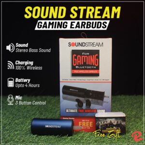 Buy Sound Stream earbuds offer stereo bass sound quality online at Rhizmall.pk