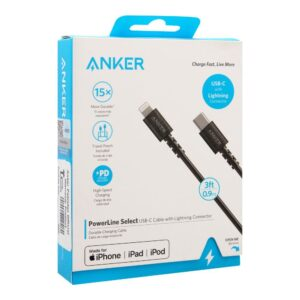 Buy Anker A8612H11 - PowerLine Select USB-C to Lightning Cable - 3ft   Rhizmall.pk