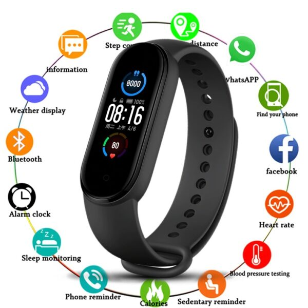 Buy Xiaomi Mi Band 5 (Global) Smart Wristband 1.1 inch Color Screen with Magnetic Charging 11 Sports Modes Remote Camera Bluetooth 5.0 Global Version | Rhizmall.pk