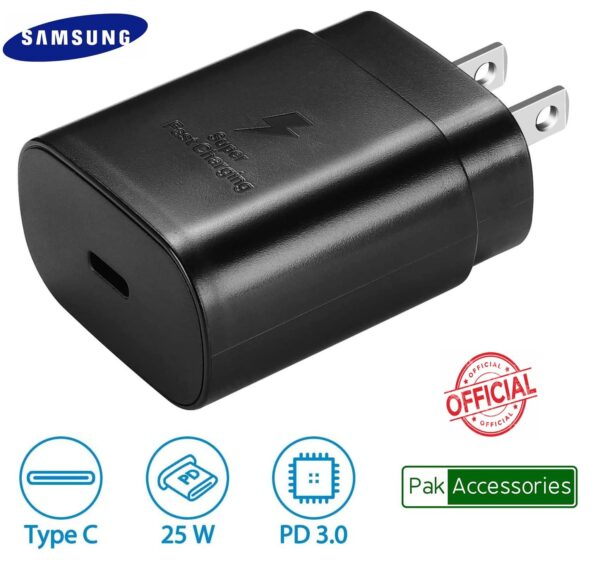 Buy Samsung Charger Super fast Charger 25W 2 Pin Carger online at rhizmall.pk